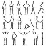 Figuras humanas ilustração stock