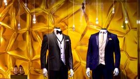 Figuras humanas do manequim em uma exposição da loja Fotografia de Stock