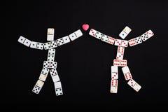 Figuras humanas dos dominós Imagens de Stock