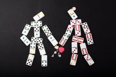 Figuras humanas dos dominós Imagens de Stock Royalty Free