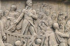Figuras humanas talladas en piedra Imágenes de archivo libres de regalías