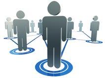 Figuras interconectadas dos povos Imagens de Stock