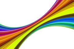 Figuras iridiscentes coloridas abstractas Imágenes de archivo libres de regalías