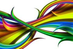 Figuras iridiscentes coloridas abstractas Imagen de archivo libre de regalías