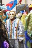 Figuras mascaradas na parada de carnaval, Peru Foto de Stock Royalty Free