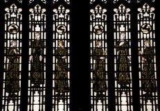Figuras medievales Yale del vidrio manchado de Bonawit imágenes de archivo libres de regalías