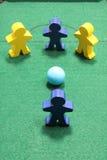 Figuras na tabela de sinuca Foto de Stock