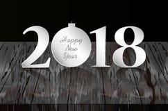 Figuras 2018 Natal, ano novo, tema do inverno Vetor Greetin ilustração do vetor