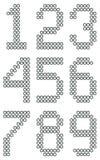 Figuras nuts dos dígitos do parafuso industrial imagem de stock