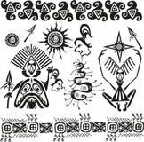Figuras paganas africanas primitivas Fotografía de archivo libre de regalías