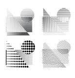Figuras pontilhadas efeito da quadriculação Imagens de Stock Royalty Free
