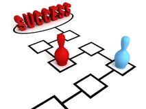 Figuras raça do jogo de mesa ao revestimento do sucesso Fotos de Stock Royalty Free
