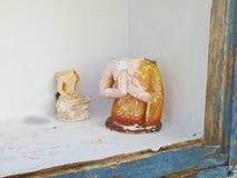 Figuras religiosas en Anuradhapura Fotos de archivo libres de regalías