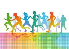 Figuras running coloridas Fotografia de Stock