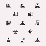 Figuras trabajo del palillo en el ordenador Fotografía de archivo libre de regalías