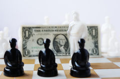 Figuras ucranianas da xadrez Fotografia de Stock