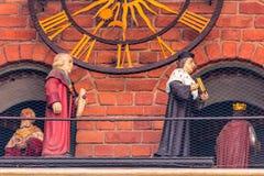 Figuras Universidad-históricas de Cracovia, Polonia-Jagiellonian Imágenes de archivo libres de regalías