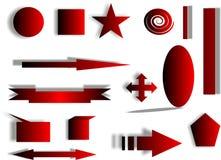 Figuras vermelhas Imagens de Stock Royalty Free