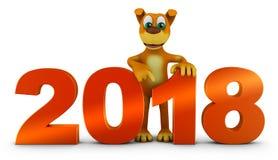 Figuras volumétricos 2018 de extremidade de cão Ilustração Stock