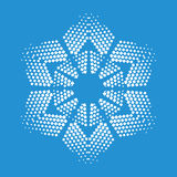 Figurate snowflake icon, simple style. Figurate snowflake icon. Simple illustration of figurate snowflake vector icon for web Stock Photography