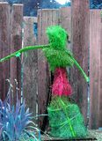 Figuratywne domu ogródu wystroju Outside zieleni menchie Obrazy Stock