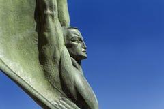 Figure à ailes de la République au barrage de Hoover Photographie stock libre de droits