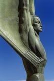 Figure à ailes de la République au barrage de Hoover Images stock