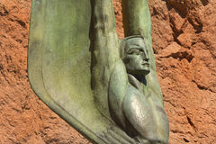 Figure à ailes de la République au barrage de Hoover Photos libres de droits