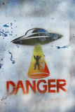 Figure abduction by aliens  background. Figure abduction by aliens abstract background Royalty Free Stock Photo