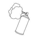 Figure aerosol sprays with cloud icon. Illustraction design Stock Photography