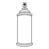 Figure aerosol sprays icon. Illustraction design Royalty Free Stock Photos