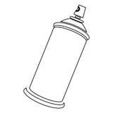 Figure aerosol sprays icon. Illustraction design Royalty Free Stock Photography