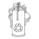 Figure aerosol sprays with recycle symbol icon Stock Photos