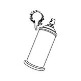 Figure aerosol sprays with a stain icon. Illustraction design Stock Image