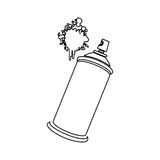 Figure aerosol sprays with a stain icon. Illustraction design Royalty Free Stock Photos