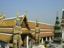 Figure al grande palazzo Bangkok fotografia stock libera da diritti