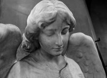 Figure of angel as a symbol of love, kindness, and suffering Stock Photo