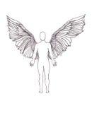 Figure of an angel Stock Photos