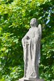 Figure of an angel. Sculpture with figure of an angel near old cementery in the village of Rodowo, Poland royalty free stock photography