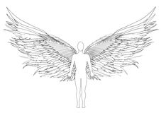 Figure of an angel. Vector illustration Stock Photo