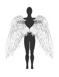 Figure of an angel. Vector illustration Royalty Free Stock Photography