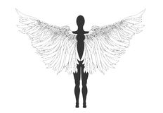 Figure of an angel. Vector illustration Royalty Free Stock Photos