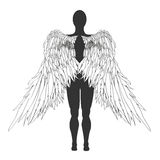 Figure of an angel. Vector illustration Royalty Free Stock Images