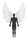 Figure of an angel. Vector illustration Royalty Free Stock Photo