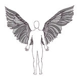 Figure of an angel. Wings Royalty Free Stock Photo