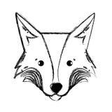 Figure animal sauvage de tête mignonne de renard Photo libre de droits