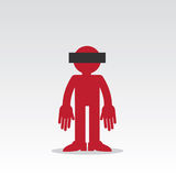 Figure Anonymous. Silhouette anonymous figure with censored eyes Stock Photos