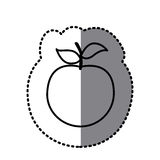 Figure apple fruit icon. Illustraction design Stock Image