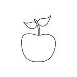 Figure apple fruit icon stock Stock Images
