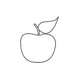 Figure apple fruit icon stock. Illustration desing Stock Photography